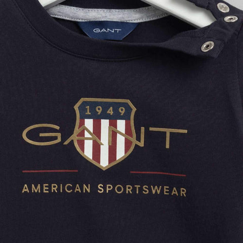GANT Archive Shield T Shirt in Navy
