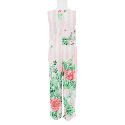 Guess Girl's Floral Print Jumpsuit