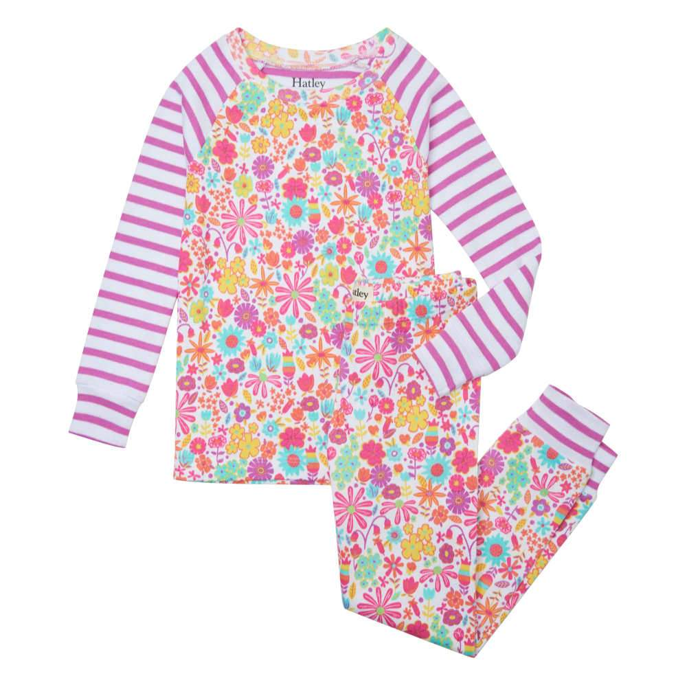 Hatley Mini Flower Print Pyjamas - S21DMK1269