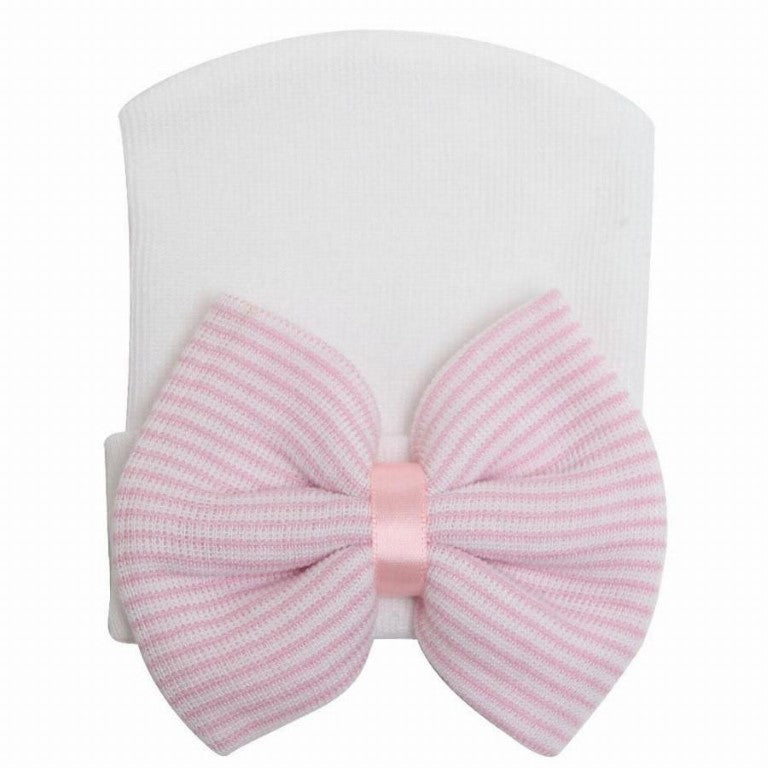 Baby's Hat with Striped bow