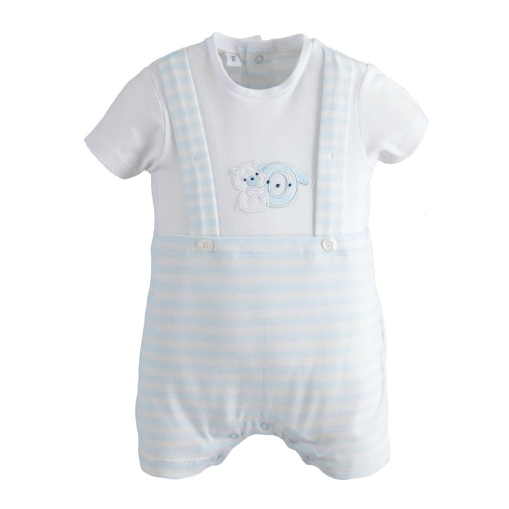 iDo Boy's Romper in Sky Blue