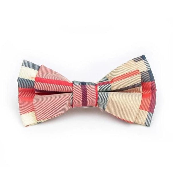 White & Red Dickie Bow