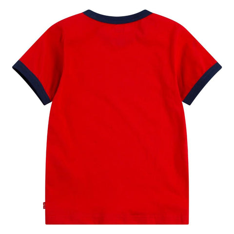 Levi's Batwing Logo Ringer T Shirt in Red - ec814