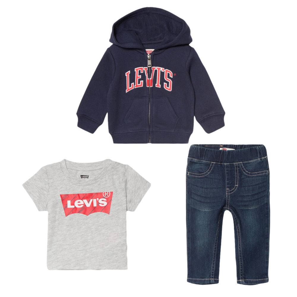 Levi's Baby Boys Jeans & Hoodie Set