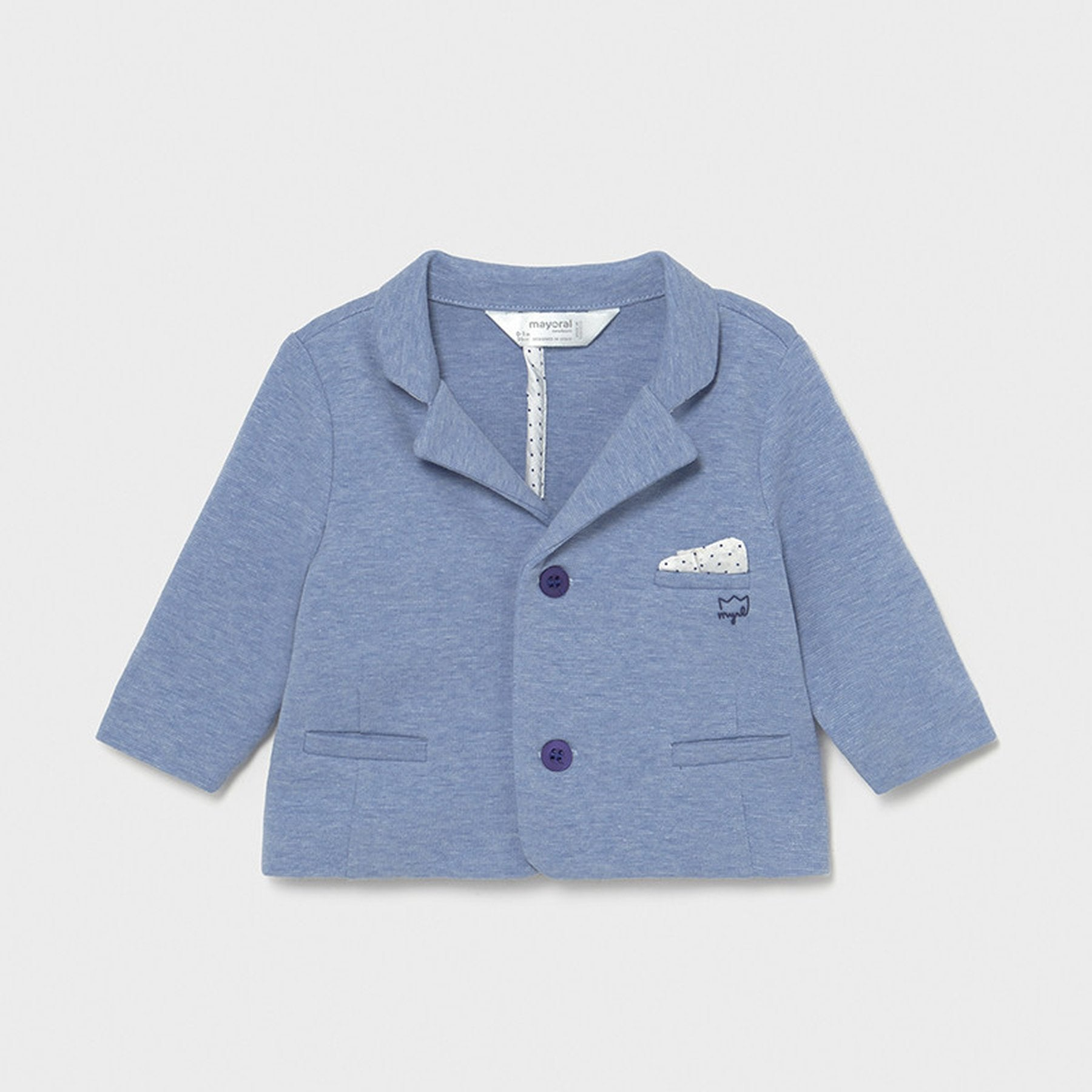 Mayoral Baby Boys Formal Jacket Light Blue 01478