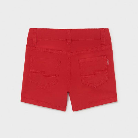 Mayoral Boys Twill Shorts Red