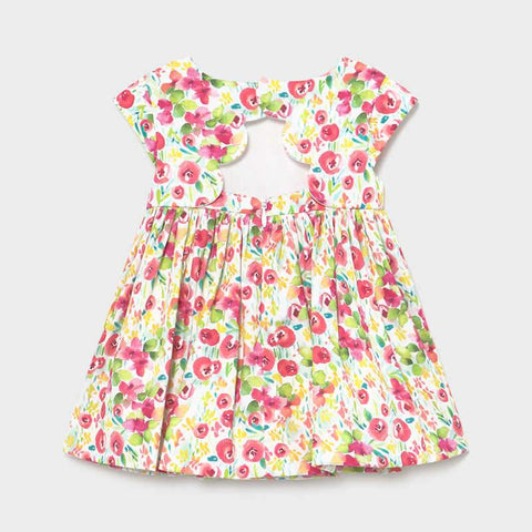Mayoral Baby Girls Flower Print Dress Camellia