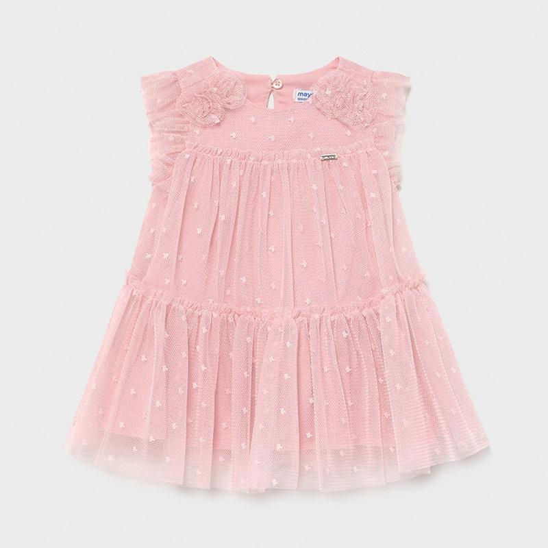 Mayoral Baby Girls Tulle Dress Pink
