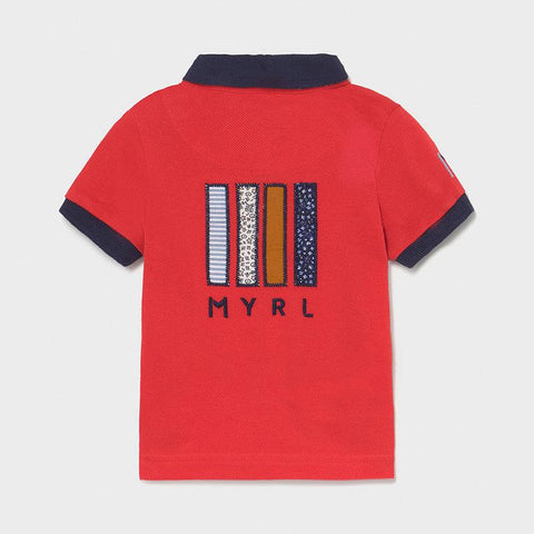 Mayoral Baby Boys Applique Polo Shirt Cyber Red