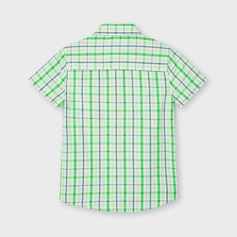 Mayoral Boys Checked Shirt Matcha 03123
