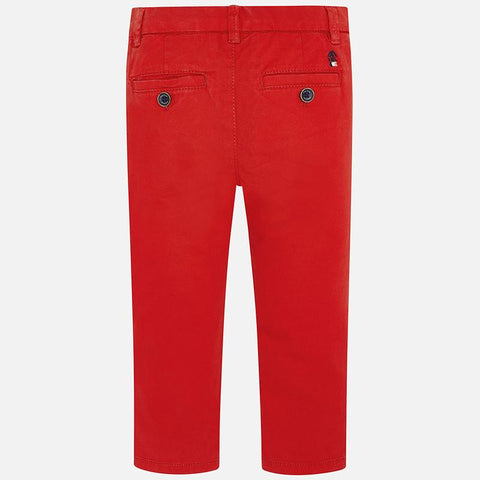 Mayoral Boys Twill Trousers Red 00512