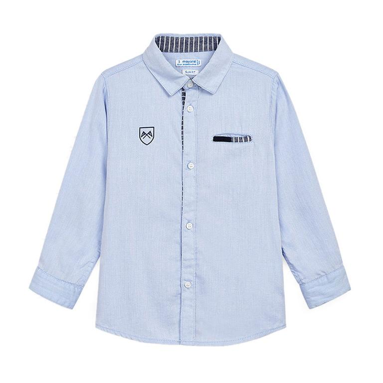 Mayoral Boys Long Sleeve Shirt 3171 Celeste