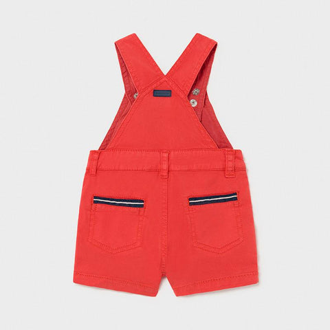 Mayoral Boys Twill Dungarees Cyber Red
