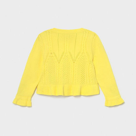 Mayoral Ecofriends Knitted Cardigan Yellow