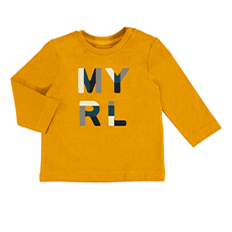 Mayoral Basic Long Sleeved T-Shirt for Baby Boy in Orange - 00108