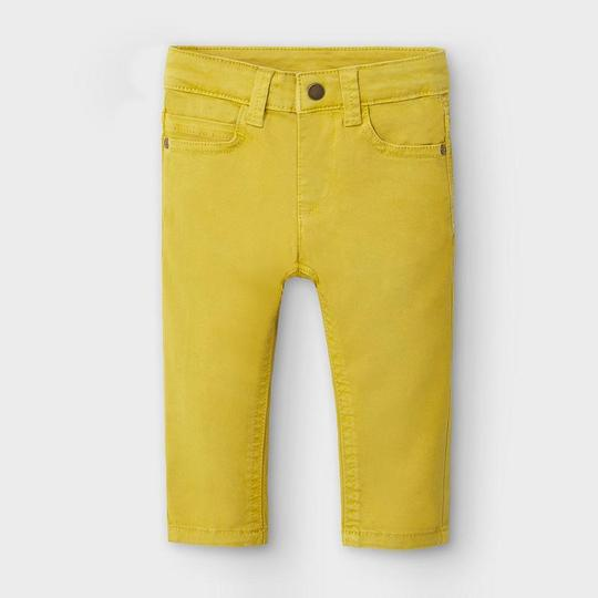 Mayoral Baby Boys Slim Fit Trousers in Yellow - 00563