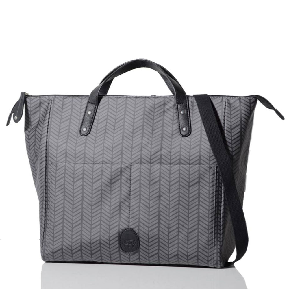 Pacapod Saunton Changing Bag - Charcoal Herringbone