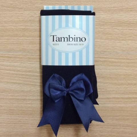 Tambino double bow tights - Navy