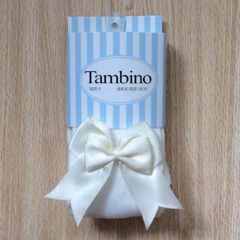 Tambino double bow tights - Cream