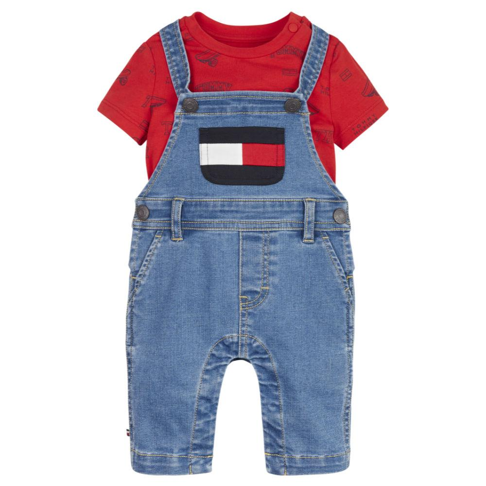 Tommy Hilfiger Boy's Dungaree Set - KN0KN01339