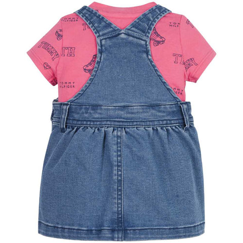 Tommy Hilfiger Girl's Dungaree Set - KN0KN01342