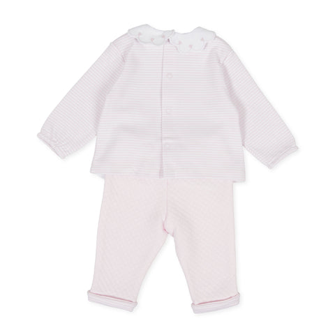 Tutto Piccolo Girls 2 Piece Romper Set - 9587