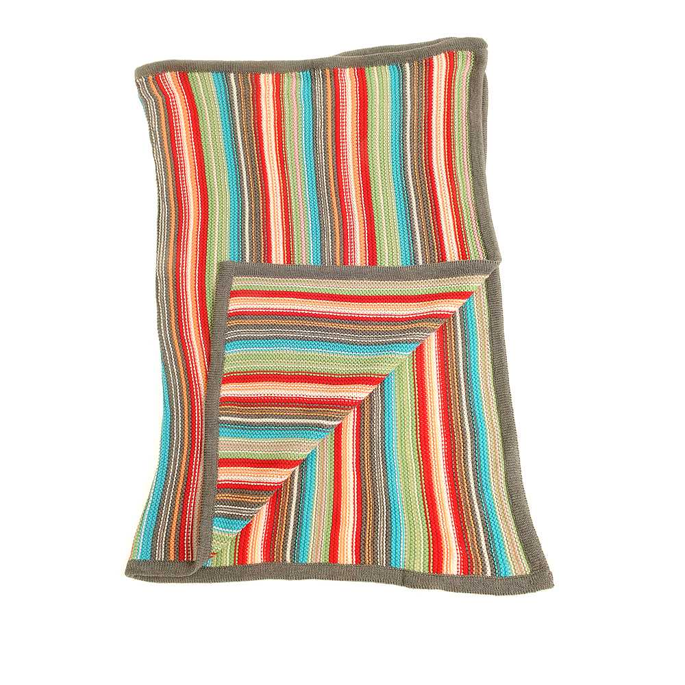 Ziggle Baby Blanket Colourful Stripes