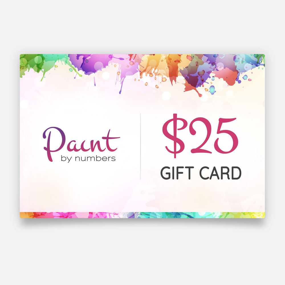 Paint By Numbers Gift Card