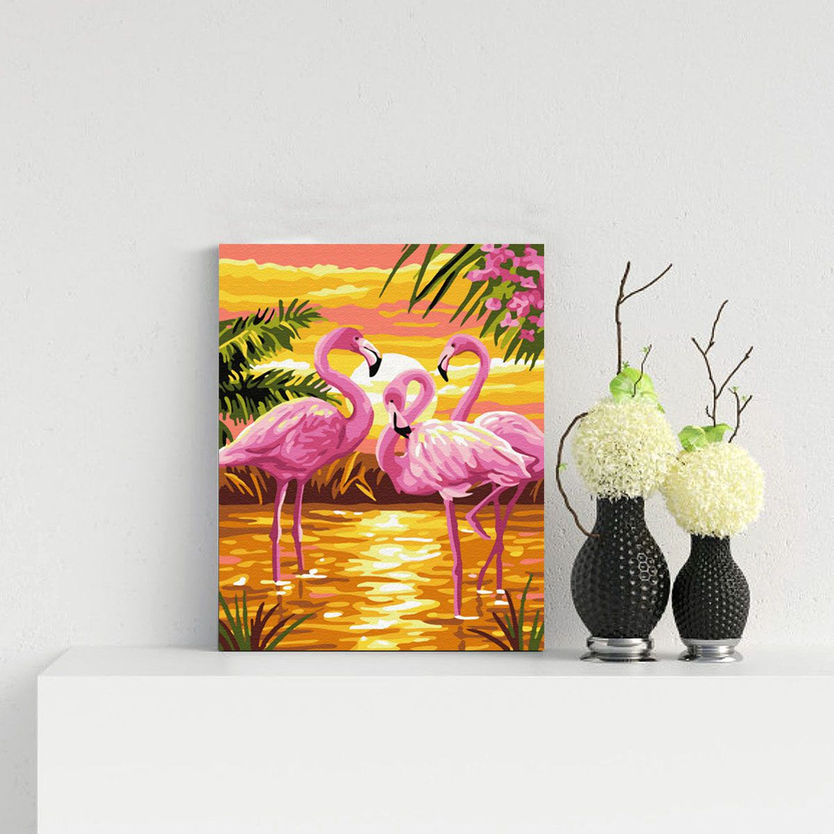 Flamingo at Sunset
