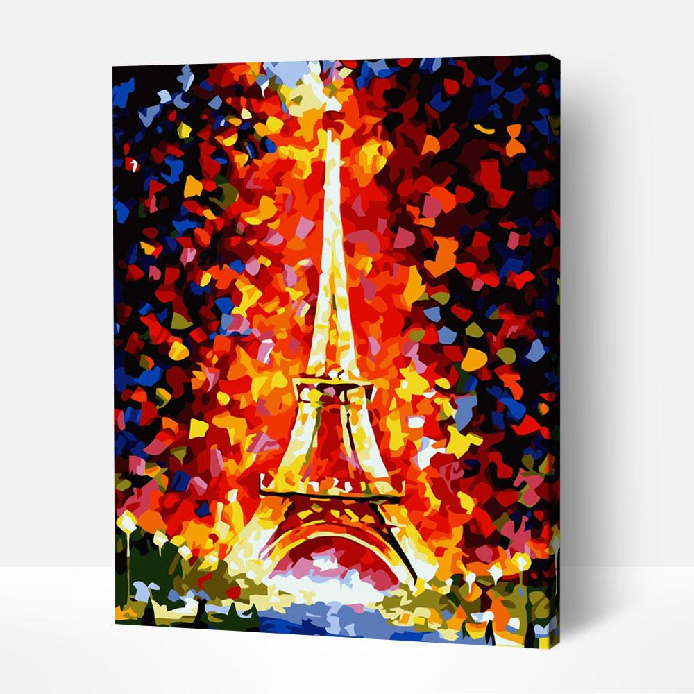 Eiffel Tower Pointillism - Paint By Numbers Kit For Adult