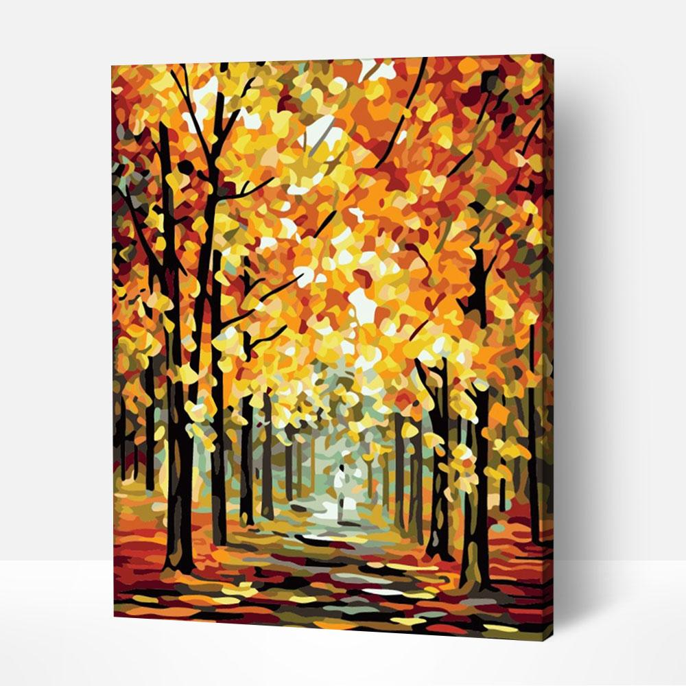 Blots of Autumn - Paint By Numbers Kit For Adult