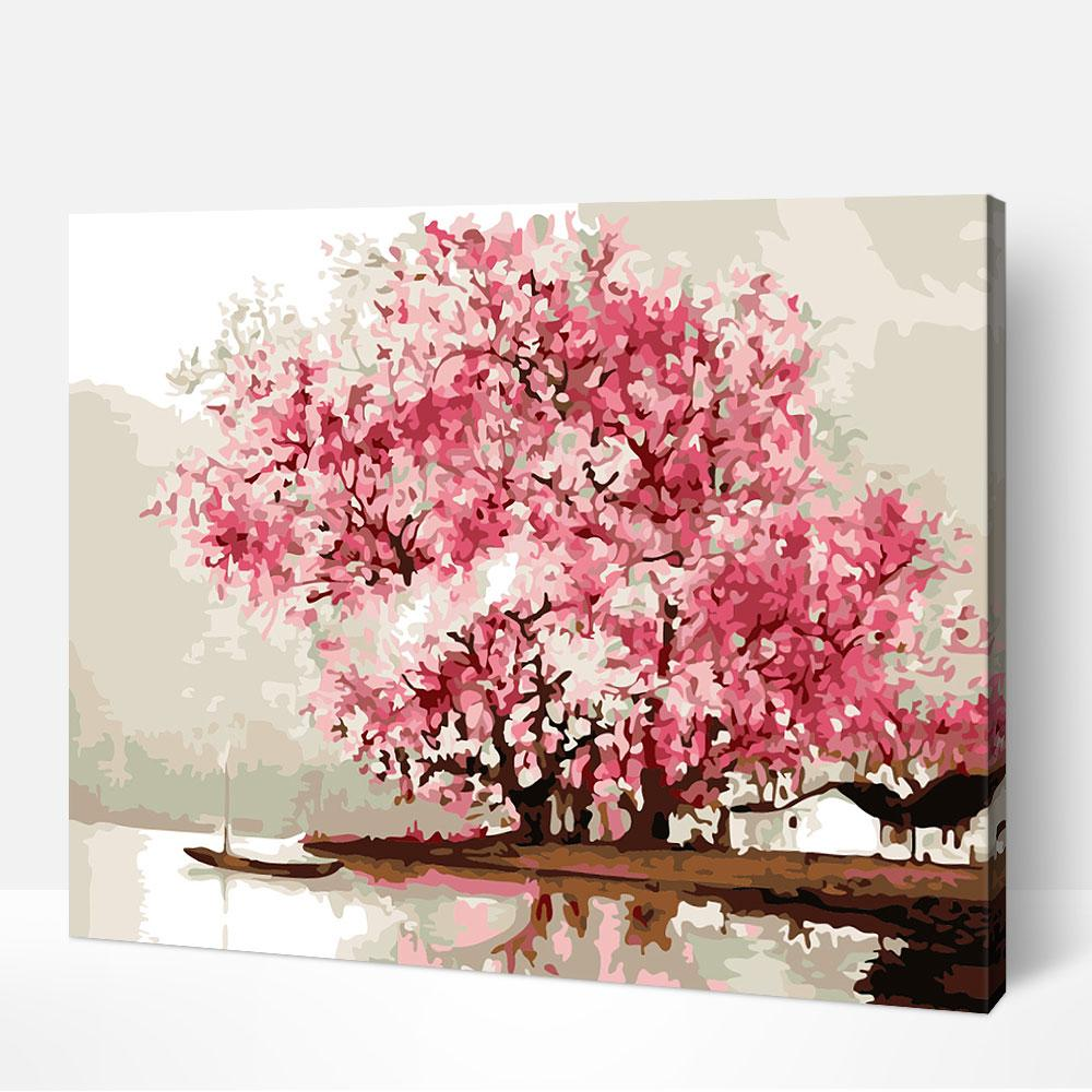Cherry Blossoms - Paint By Numbers Kit For Adult