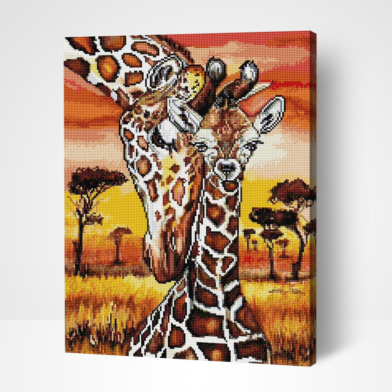 Mother's love. Giraffes - Diamond Painting