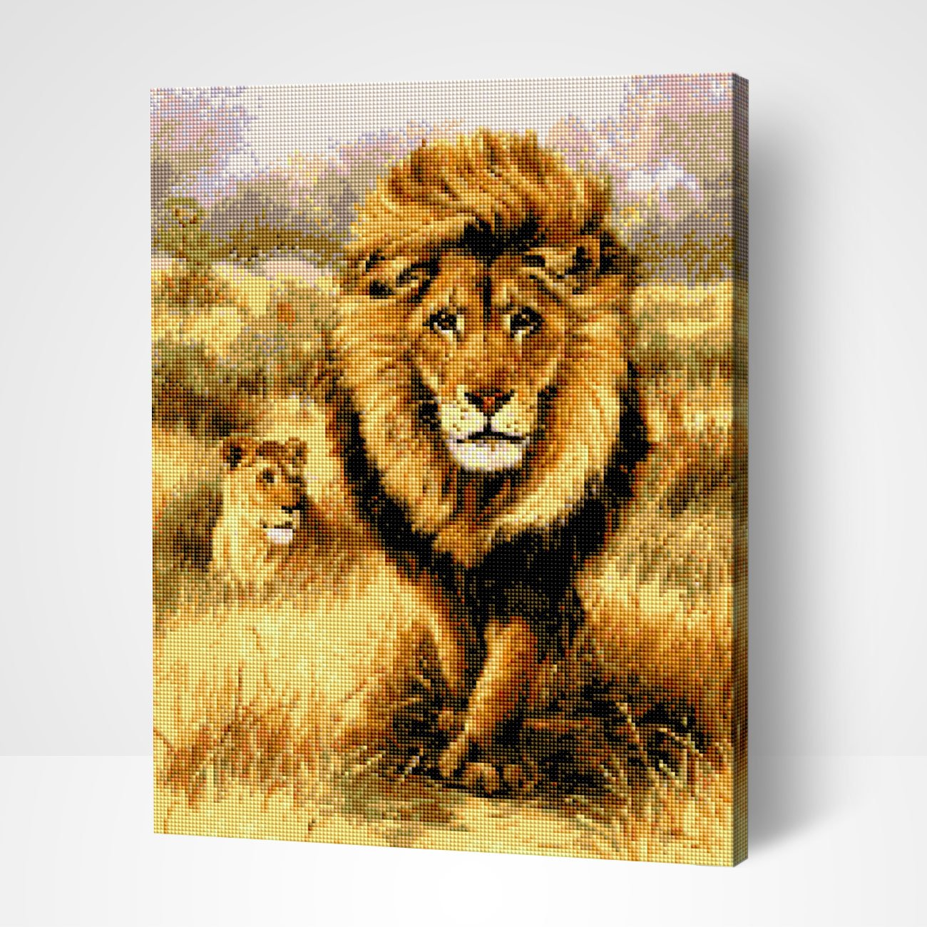 Savannah Lions - Diamond Painting
