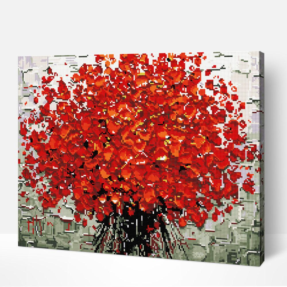 Red Blossoms - Diamond Painting