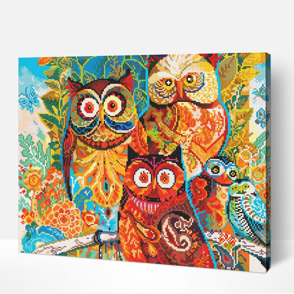 Owls - Diamond Painting