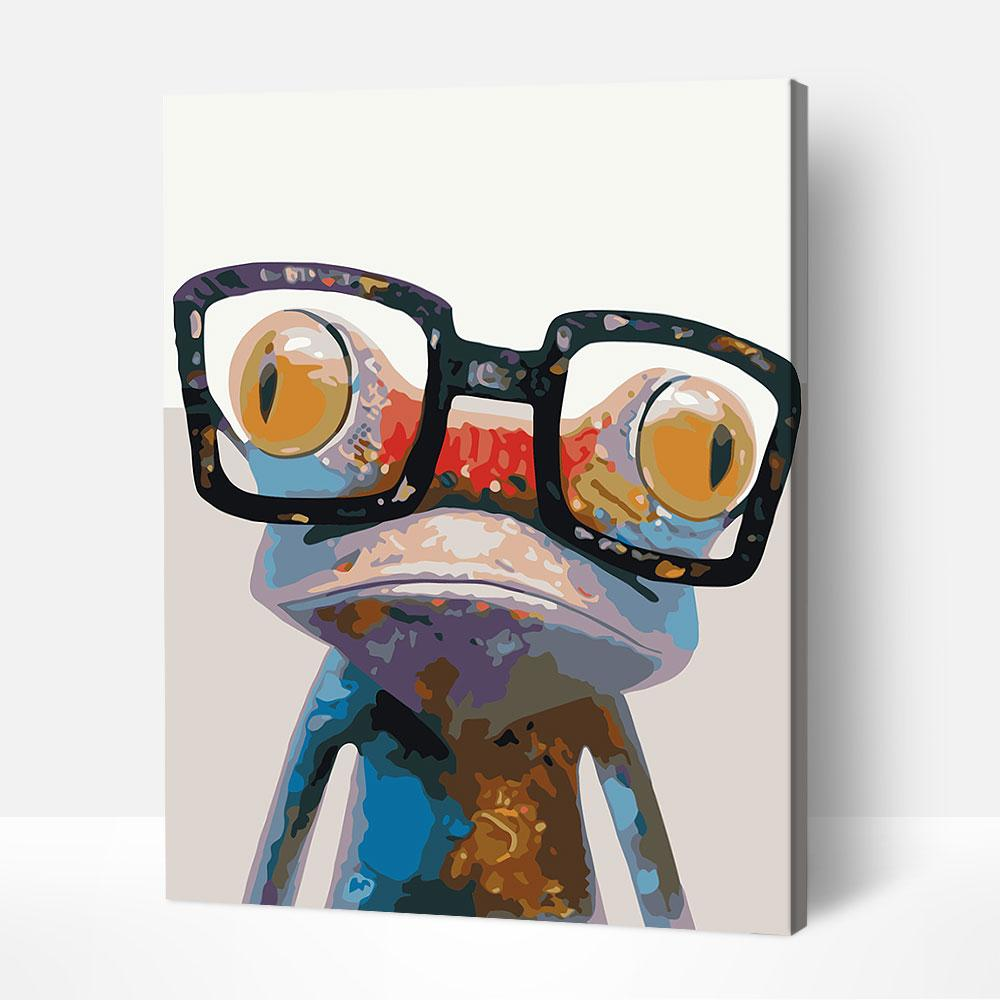 Bespectacled Newt - Paint By Numbers Kit For Adult