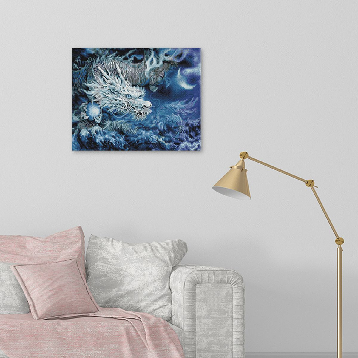 Blue Dragon - Diamond Painting