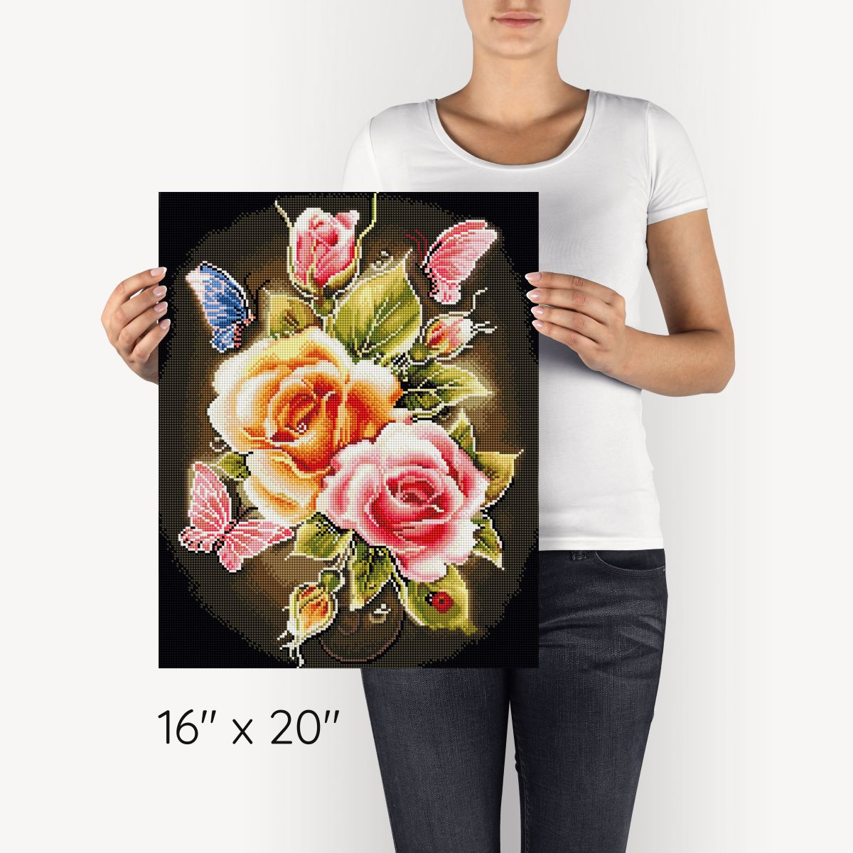 Roses & Butterflies - Diamond Painting