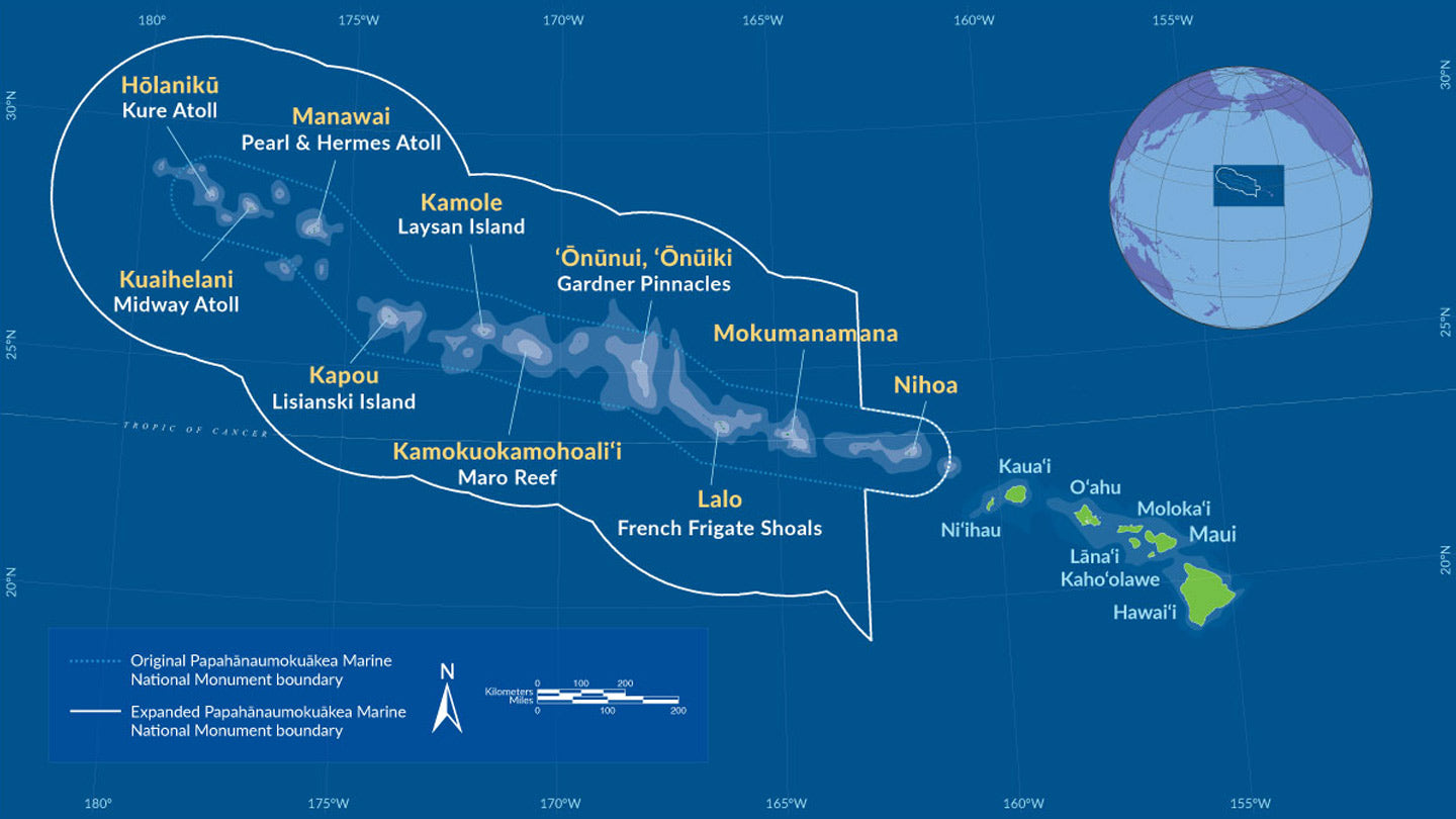 Papahānaumokuākea Marine National Monument Map