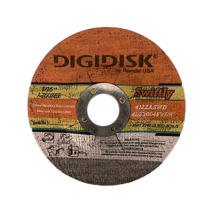 DISCO CORTE SWIFTLY C/R 41/2X0.45X7/8 DIGIDISK