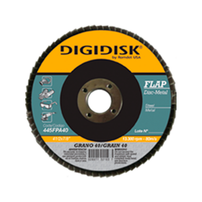 "DISCO FLAP METAL 41/2""X7/8"" GRANO 60 DIGIDISK"