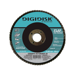 "DISCO FLAP STAINLESS 41/2""X7/8"" GRANO 80 DIGIDISK"