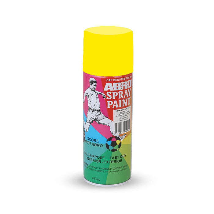 Pintura Spray ABRO Amarillo Fluorescente