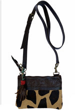 Load image into Gallery viewer, Cowhide Giraffe Crossbody/Hipster