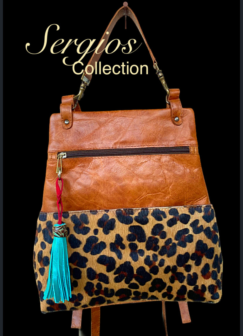 Sophisticated Backpack in Leopard Hyde