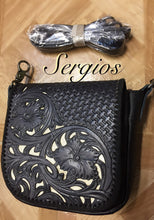 Load image into Gallery viewer, Hand Tooled ,Laser Cut Crossbody /Hipbag