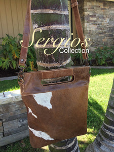 Leather Bag,Cowhide bucket style