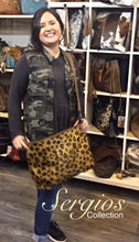 Load image into Gallery viewer, Cowhide Cheetah print Crossbody bag