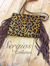Load image into Gallery viewer, Cheetah print on cowhide Crossbody